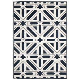 Indoor Outdoor Xenia Floor Rug Navy
