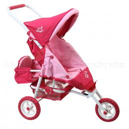 Valco Baby Mini Doll Marathon with Toddler Seat - Butterfly Pink