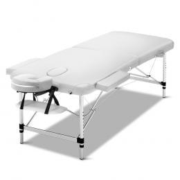 Zenses 75cm Wide Aluminium Massage Table Two Fold Treatment White