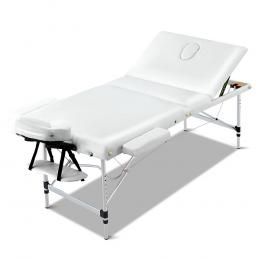 Zenses 70cm Wide Portable Aluminium Massage Table Beauty Therapy White