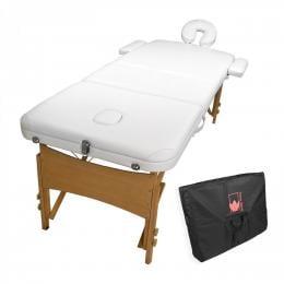 Wooden Portable Massage Table 70cm - WHITE