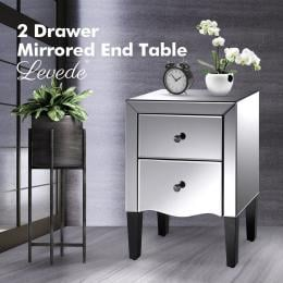 Mirrored Bed Side Table