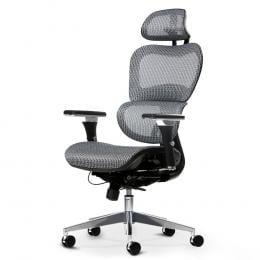 Office Chair Computer Gaming Chair Mesh Net Seat Grey