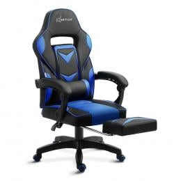 Office Computer Desk Gaming Chair Study Home Recliner Chair Black Blue