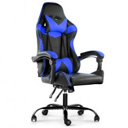 Gaming Office Chairs Computer Seating Recliner Racer Black Blue