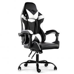 Gaming Office Chairs Computer Seat Racing Recliner Black White
