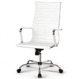 Office Chairs PU Leather Executive Work Computer Seat White
