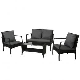 Outdoor Furniture Lounge Table Chairs Garden Patio Wicker Sofa Set