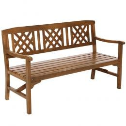 Garden Bench 3 Seat Patio Furniture Timber Lounge Chair Natural