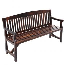 Wooden Garden Bench Chair Outdoor Furniture Décor Patio Deck 3 Seater