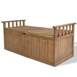 Outdoor Storage Box Wooden Garden Bench 128.5cm Toy Sheds XL