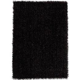 Metallic Thick, Thin Shag Floor Rug Aubergine Grey