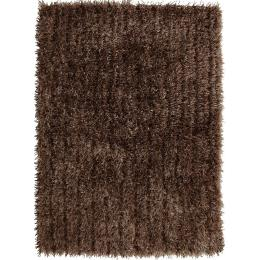 Metallic Thick, Thin Shag Floor Rug Beige