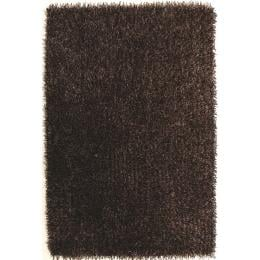 Metallic Thick, Thin Shag Floor Rug Brown And Beige