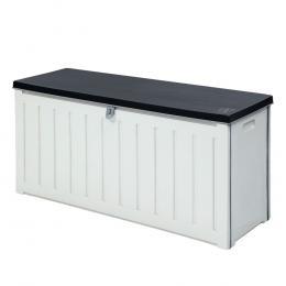 Outdoor Storage Box Bench Seat Lockable 240L - White