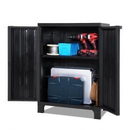 Outdoor Storage Cabinet Cupboard Lockable Garden Sheds  Black