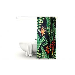 Polyester Waterproof Bathroom Shower Curtain Palm 180x200cm