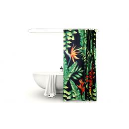 Polyester Waterproof Bathroom Shower Curtain Palm 180x180cm