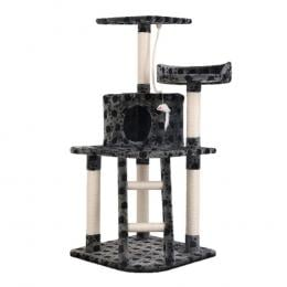 Cat Tree Scratching Post  Tower Condo House Furniture Wood Grey