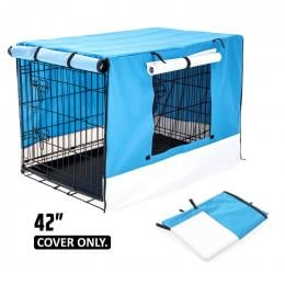 42in Cover for Wire Dog Cage - BLUE