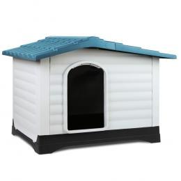 Large Weatherproof Pet Kennel - Blue