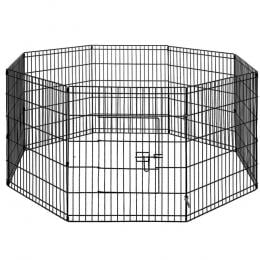 2X 8 Panel Pet Dog Playpen Puppy Cage Enclosure Fence Play Pen