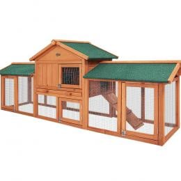 Rabbit Hutch  Large Metal Run Wooden Cage Chicken Coop Guinea Pig