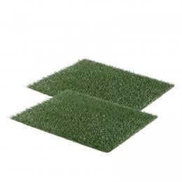2x 58.5cm x 46cm Synthetic Grass Pet Mats