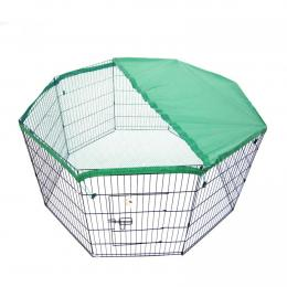 30in 8 Panel Foldable Pet Playpen With Cover