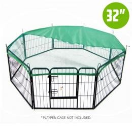 32in Cover for Playpen - Green
