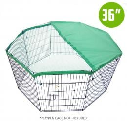 36in Cover for Playpen - Green