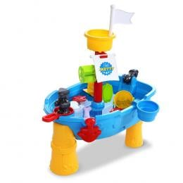 Kids Beach Sand and Water Toys Outdoor Table Pirate Ship Sandpit