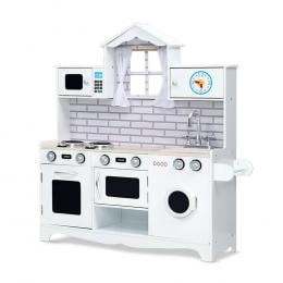 Kids Kitchen Set Pretend Play Food Sets Childrens Utensils Toys White