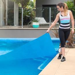 500 Micron Solar Swimming Pool Cover 11m x 6.2m - Blue
