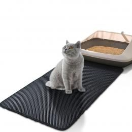 Waterproof Double-Layer Cat Litter Mat Trapper Foldable  Pet Rug Home