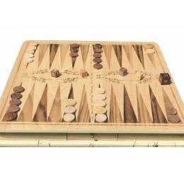 Premium Carved Wooden Backgammon Board Set