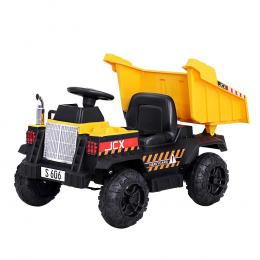 Kids Ride On Car Dumptruck 12V Electric Bulldozer Cars Battery Yellow