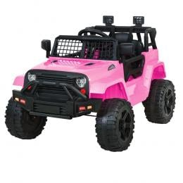 Kids Ride On Car Electric 12V Car Jeep Battery Remote Control Pink