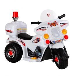 Kids Ride on Motorbike White