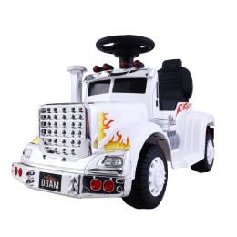 Ride On Cars Kids Electric Toys Car Battery Truck Childrens Motorbike Toy White