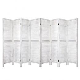 Room Divider Screen 8 Panel Privacy Wood Dividers Stand Timber White