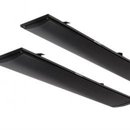 2x Electric Radiant Strip Heater Panel Outdoor Heating Heat Bar 1800W