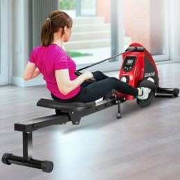 PowerTrain Rowing Machine Magnetic Resistance RW-H02 - Red