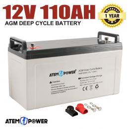 110AH AGM Battery 12V AMP Hour SLA Deep Cycl Solar Power 12 Volt