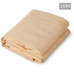 2 x 4m Waterproof Rectangle Shade Sail Cloth - Sand Beige