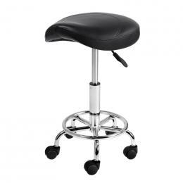 Professional Saddle Style Swivel Salon Stool Black