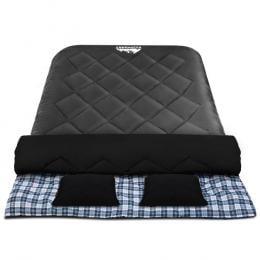 Sleeping Bag Bags Double Camping Hiking -10deg C to 15deg C Tent