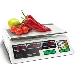 Portable Electronic Kitchen Digital Scales - 40kg White