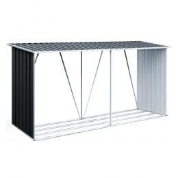 Log Storage Shed Galvanised Steel Outdoor Garden  3.5m³ Shelter