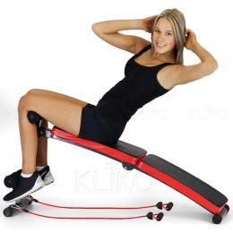 Incline sit-up bench with Resistance Bands